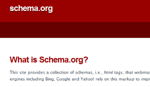 Schema is a new organization that offers webmasters mark-up data to make site design more manageable and search results more info rich.
