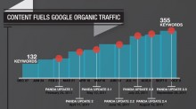 Content fuels organic Google traffic through Panda updates