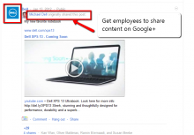 Dell shares Dell content on G+