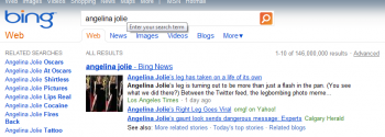 Bing search Angelina Jolie leg
