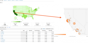 Google Analytics traffic location insights