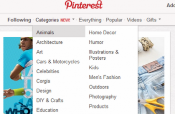 Pinterest has rolled out a Categories tab that will help users navigate to the content most relevant to them.