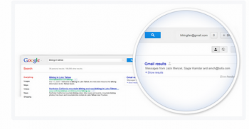 Google's new feature lets users include email results in SERPs.