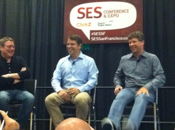 Danny Sullivan joins Matt Cutts on stage for a keynote discussion as part of SES San Francisco on Wednesday.