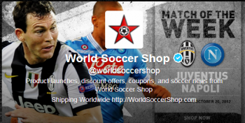 WorldSoccerShop.com takes advantage of the latest news in sports and the demand for social promotions with its innovative social marketing strategy.