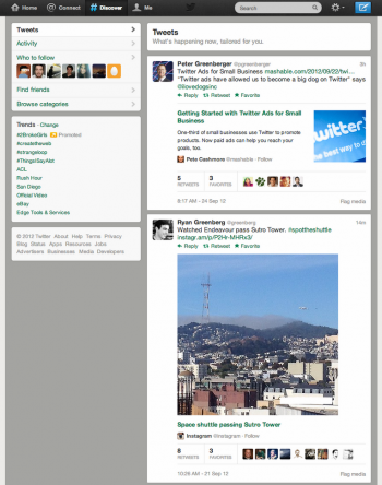 Twitter adjusted its Discover tab recently to expand images and content previews automatically on the page.