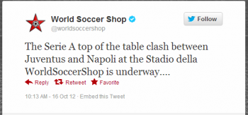 World Soccer Shop's Match of the Week campaign engages followers and keep them interested with a discount on the line.
