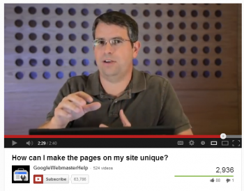 Want some love from Matt Cutts Create unique pages