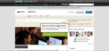 LinkedIn allows members to upload presentations, images and projects to the site directly.